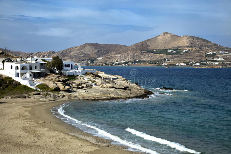 Panorama of Naxos in Greece royalty free stock image