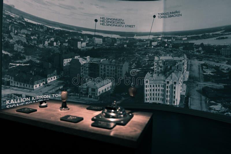 Panorama nel museo della città di Helsinki immagini stock