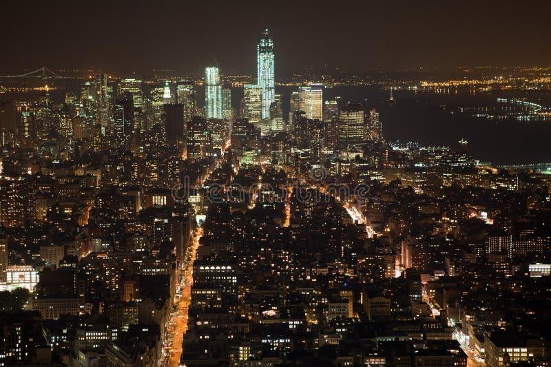 Panorama New- York Citymanhattan lizenzfreie stockbilder