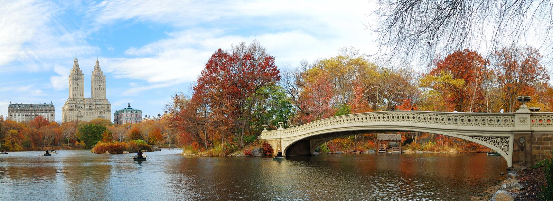 Panorama New- York Citymanhattan Central Park lizenzfreies stockfoto