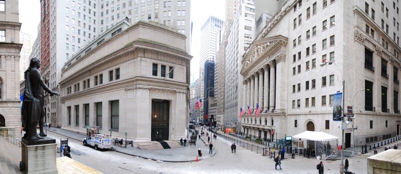 Panorama New- York Citywall street lizenzfreies stockbild