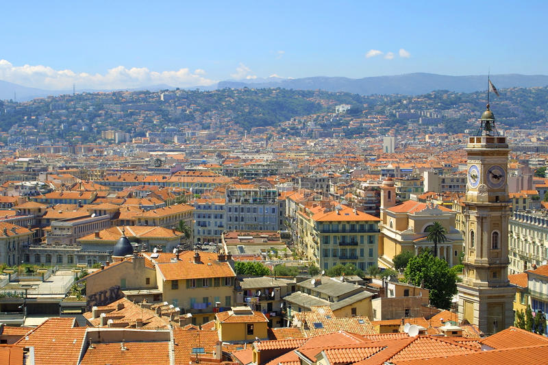 Panorama Of Nice, France Royalty Free Stock Photo