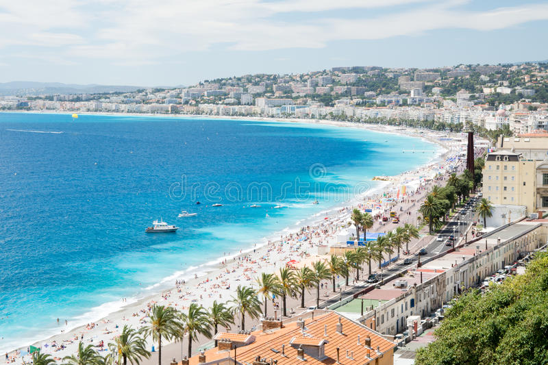 Panorama of Nice, France stock photography