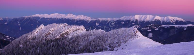 Panorama of Nizke Tatry mountains. With Cierny Kamen mountain in the front, photo taken from Velka Fatra mountains, Slovakia stock photos
