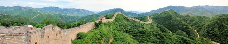 Panorama no.1 della Grande Muraglia immagine stock libera da diritti