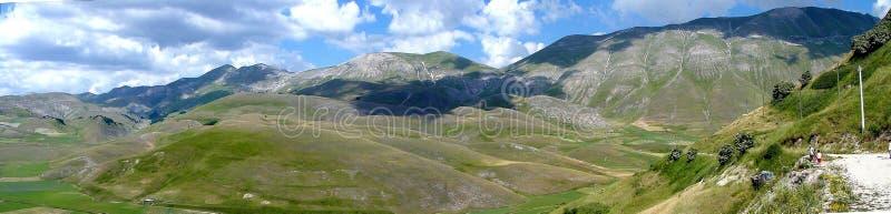 Panorama no castelluccio foto de stock royalty free