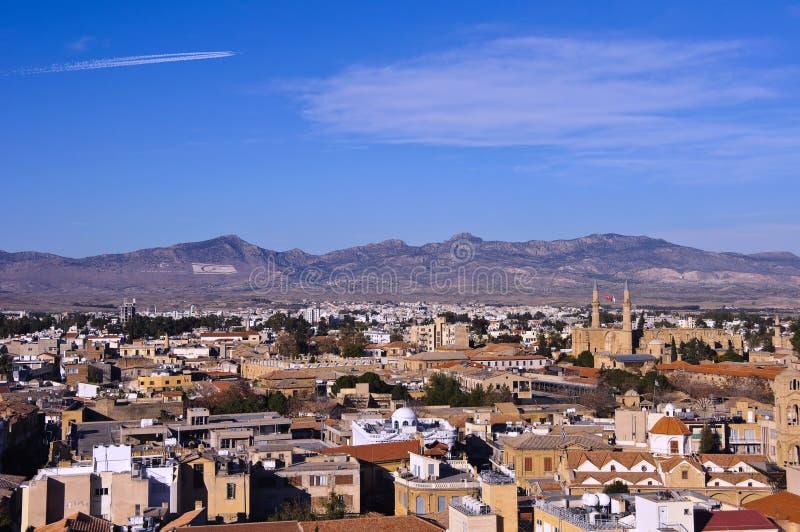 Panorama nordique de Nicosia photographie stock