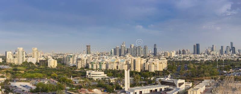Panorama Of Tel Aviv Skyline, Tel Aviv Cityscape Large Panorama At Day, Israel stock photos
