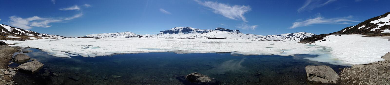 Panorama noruego imagen de archivo