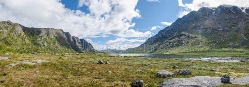 Panorama noruego de la montaña en verano foto de archivo libre de regalías