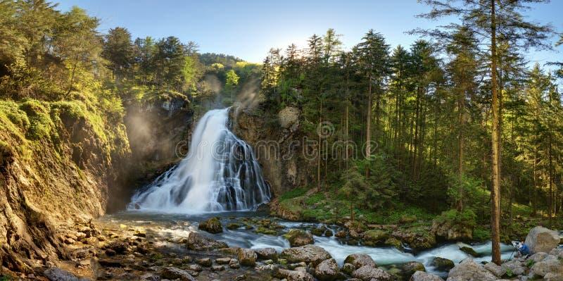 Panorama nos cumes, Golling da cachoeira de Áustria fotos de stock