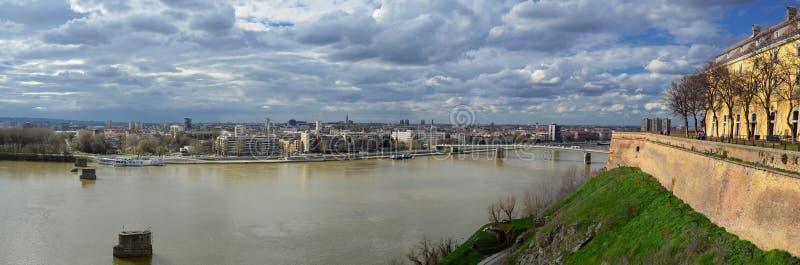 Panorama Novi Sad. Vojvodina - view from Petrovaradin fortress Novi Sad is European capital of culture 2021 royalty free stock image
