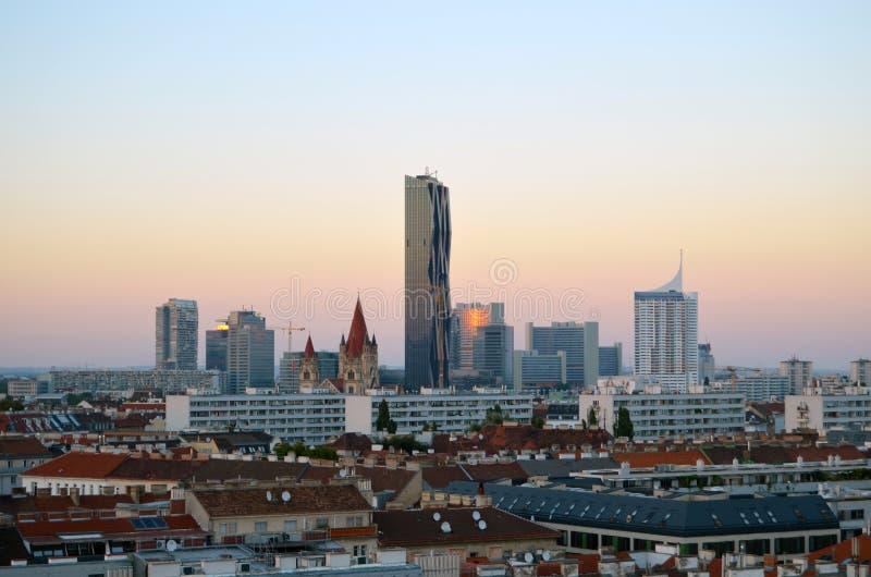 Panorama novo da cidade de Viena fotografia de stock
