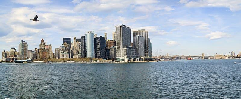 Panorama NYC royalty-vrije stock afbeelding