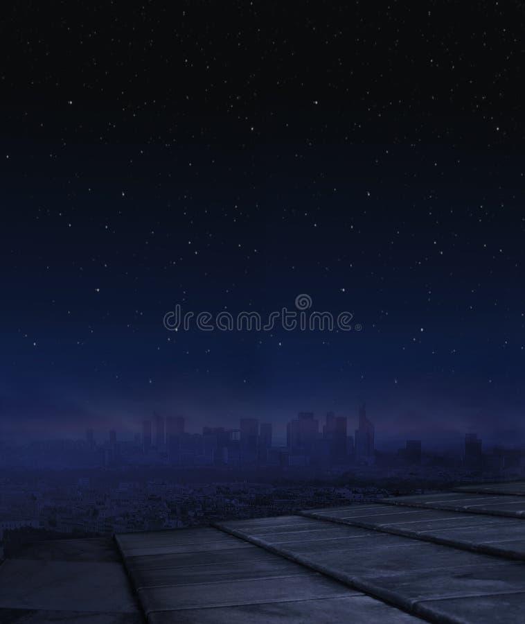 Panorama obrazek życie nocne w mieście zdjęcia royalty free