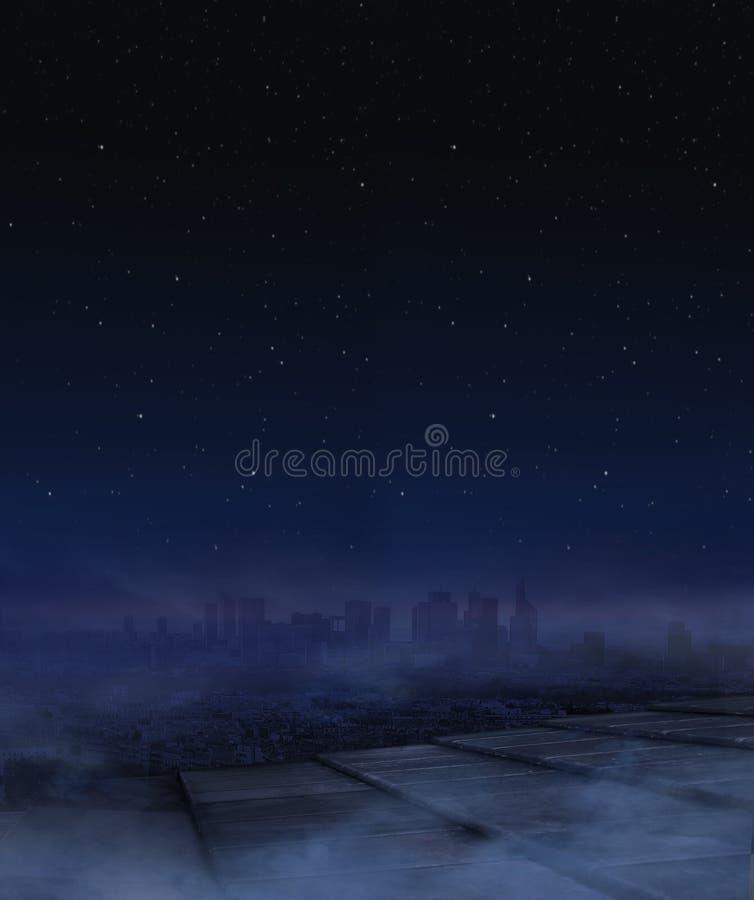 Panorama obrazek życie nocne w mieście obrazy royalty free