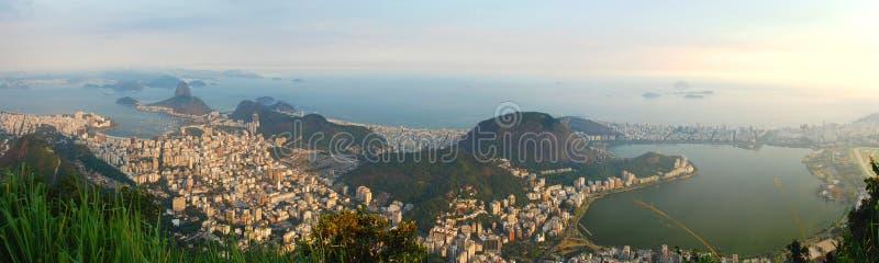 Panorama od Corcovado Rio De Janeiro, Brazylia zdjęcia royalty free