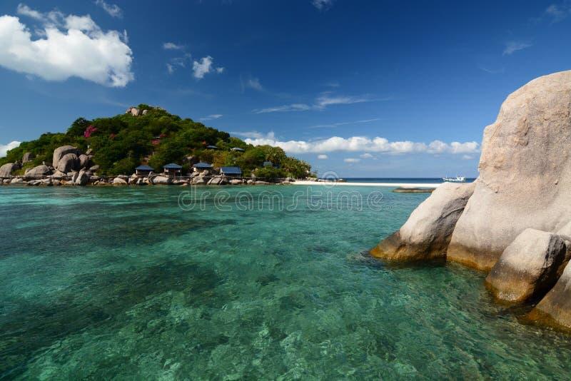 Panorama od kurtyzacji mola koh nang Juan koh Tao Tajlandia zdjęcia royalty free