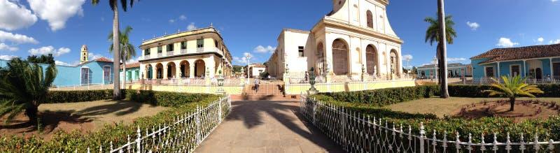 Panorama od placu Mayor w Trinidad de Kuba zdjęcie royalty free