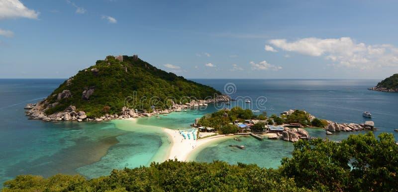 Panorama od punkt widzenia koh nang Juan koh Tao Tajlandia obraz stock