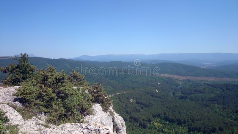 Panorama od wierzchołka góra, nadzieja i wolność, zdjęcia royalty free