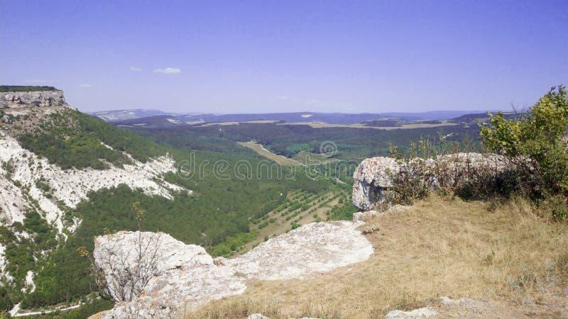 Panorama od wierzchołka góra, nadzieje i wolność, zdjęcia royalty free