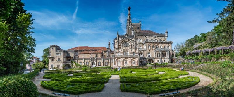 Panorama ogródy Bussaco pałac, Luso, Portugalia zdjęcia stock