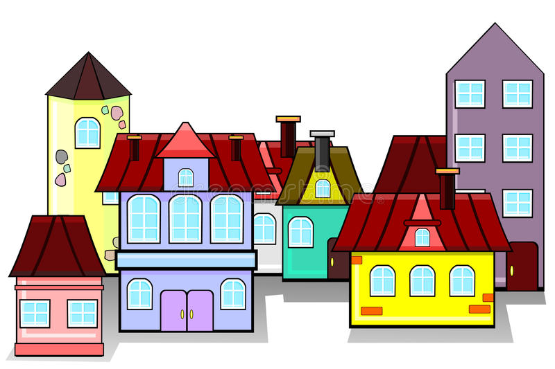 Download Panorama of old city stock vector. Image of home, architecture - 19947927