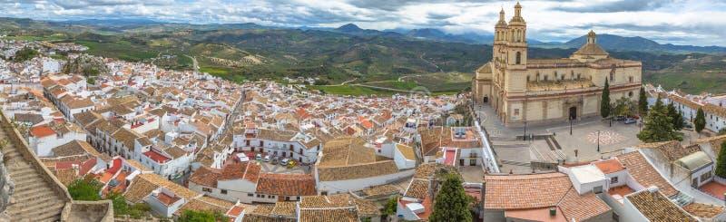 Panorama Olvera Cadiz royaltyfria foton