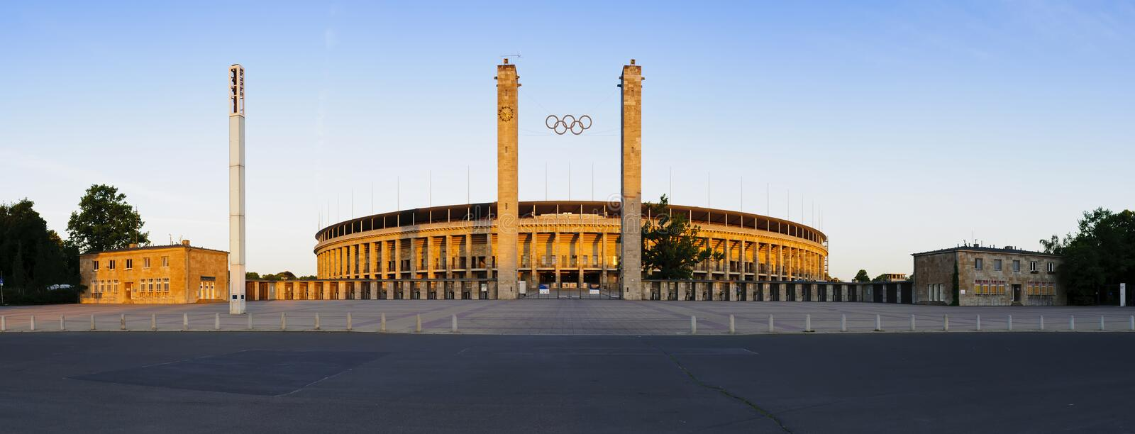 Panorama olympic stadium berlin royalty free stock image