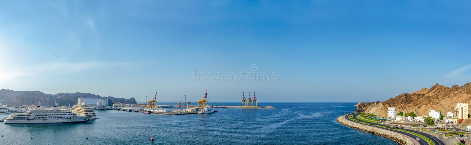 Panorama of Oman landscape royalty free stock images