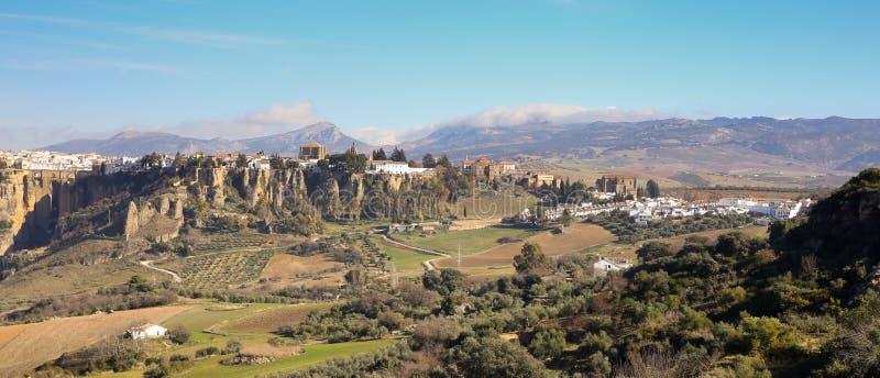 Panorama op gebieds Ronda royalty-vrije stock afbeelding