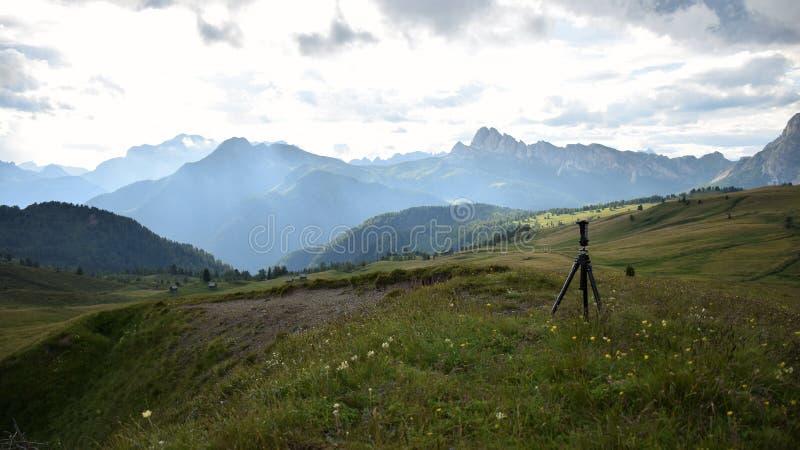 Panorama op het Dolomiet stock foto