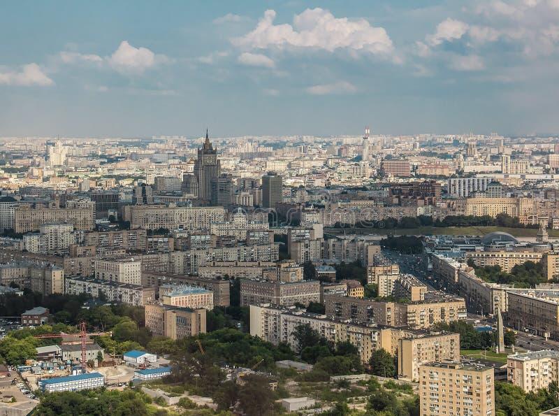 Panorama op Moskou royalty-vrije stock foto