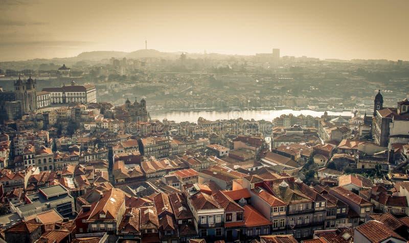 Panorama Oporto immagine stock libera da diritti