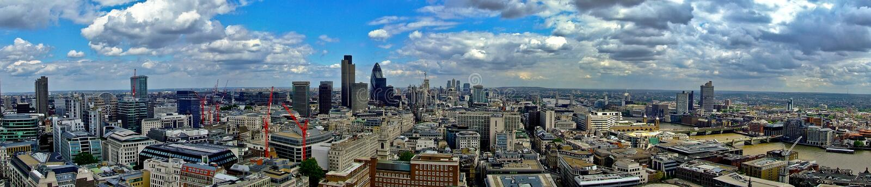 Panorama orientale di Londra fotografia stock libera da diritti