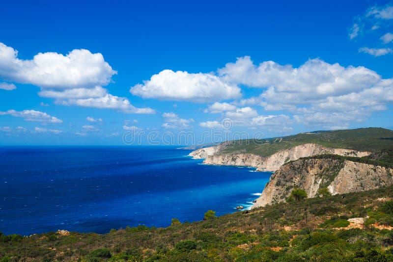 Panorama over het eiland van Zakynthos op een zonnige de zomerdag royalty-vrije stock foto