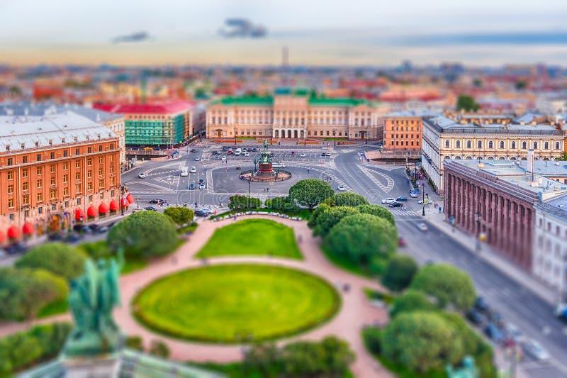 Panorama over St. Petersburg, Rusland, van St Isaac Kat royalty-vrije stock foto's