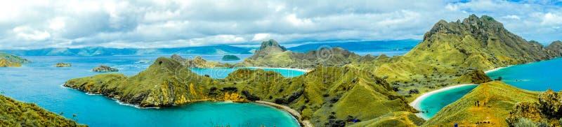 Panorama Padar Island royalty free stock photos
