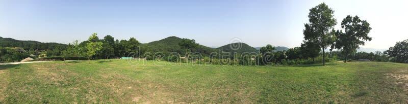 Panorama Paesaggio verde di estate in Corea del Sud immagine stock