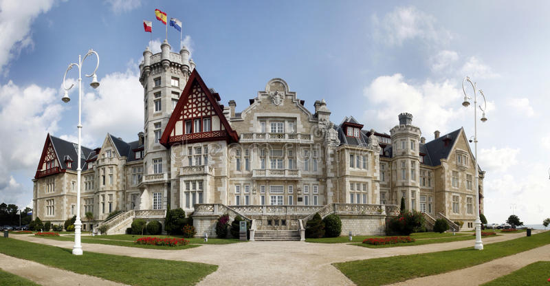 Panorama Palacio de la Magdalena stock photo
