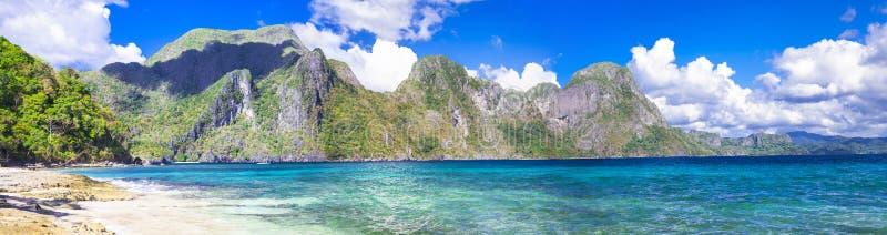 Panorama Palawan (EL NIdo) lizenzfreie stockfotografie
