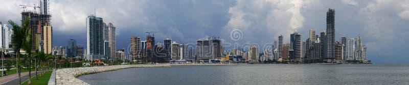Panorama of Panama City skyline stock images