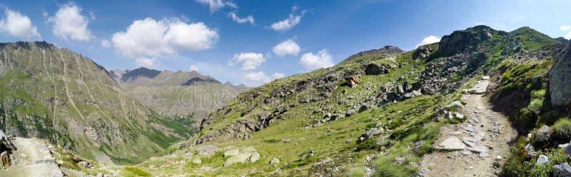 Panorama Parco Gran Paradiso pasmo górskie obraz royalty free