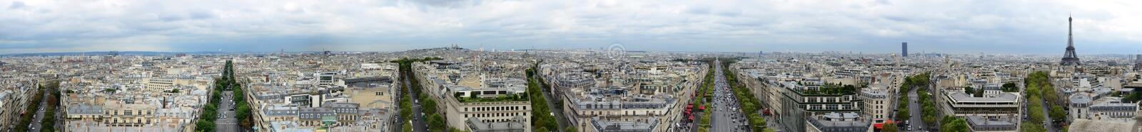Panorama- Paris royaltyfri foto