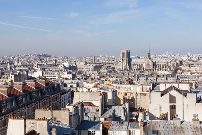 panorama paris royaltyfri foto
