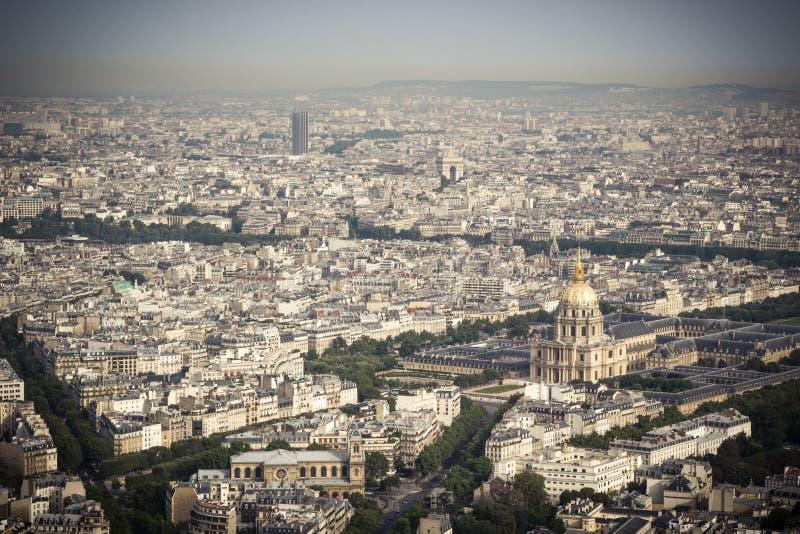 panorama paris fotografering för bildbyråer