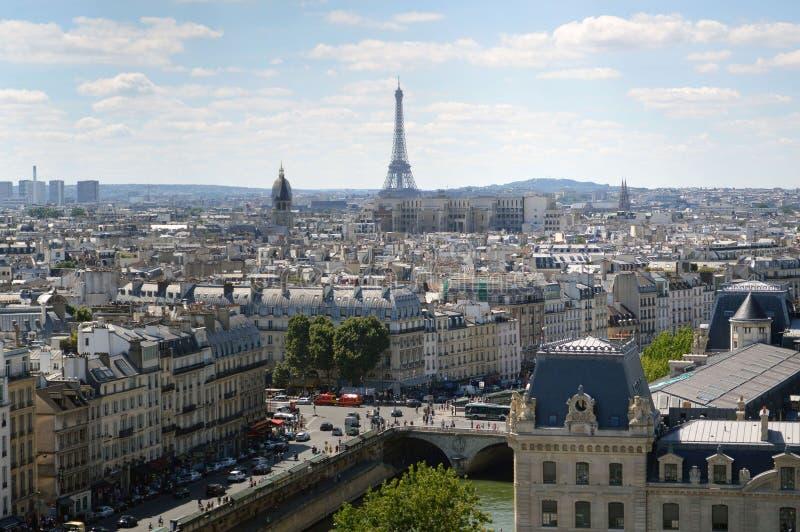 panorama- paris sikt arkivbilder