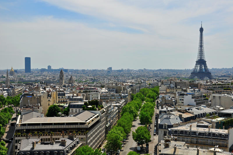 Download Panorama of Paris stock photo. Image of blue, cityscape - 34291728