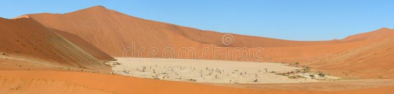 Panorama 8 de Deadvlei foto de archivo
